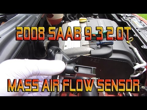 Cleaning Mass Air Flow Sensor On A 2008 Saab 9 3 2 0t