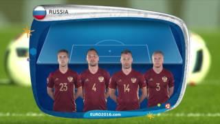 Russia line-up v Wales: UEFA EURO 2016