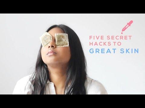 FIVE SECRET HACKS TO GREAT SKIN | SKINCARE TIPS