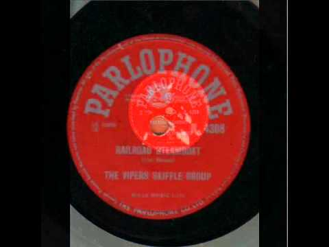 THE VIPERS SKIFFLE GROUP  RAILROAD STEAMBOAT  78RPM