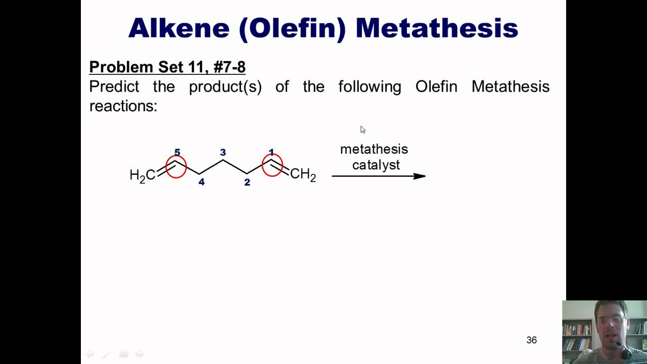 olefin methathesis Alkyne metathesis is an organic reaction involving the redistribution of alkyne chemical bonds this reaction is closely related to olefin metathesis.