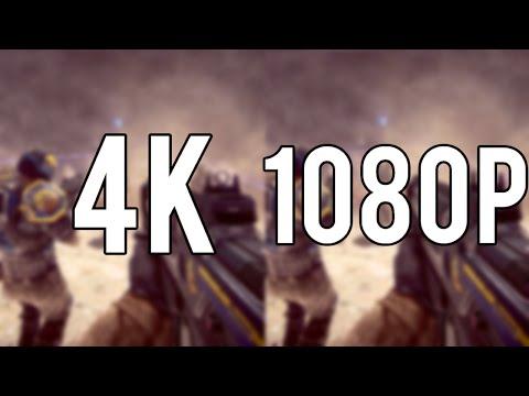 4K VS 1080p HD - PC Gaming Graphics Comparison [4K] 2015