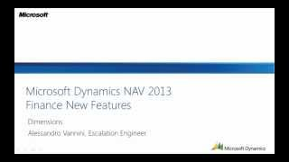 Dimensions in Dynamics NAV 2013 from Microsoft