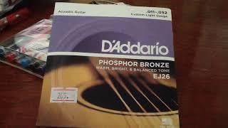 D'addario phosphor bronze EJ26