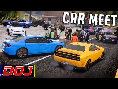 GTA 5 Roleplay - DOJ #108 - Massive Car Meet!