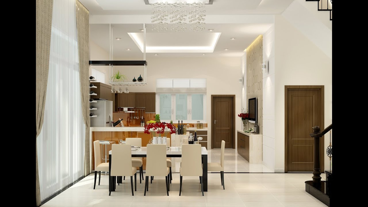Dining room interior design youtube for Interior decoration of dining room