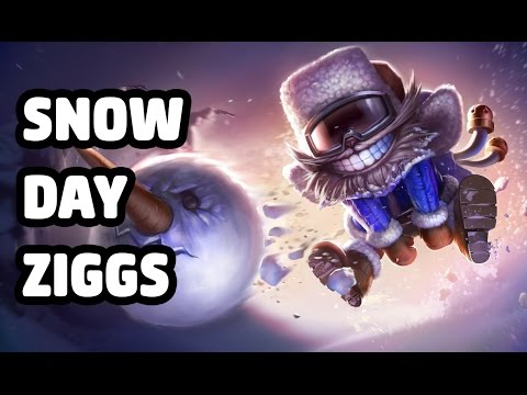 SNOW DAY ZIGGS SKIN SPOTLIGHT - LEAGUE OF LEGENDS