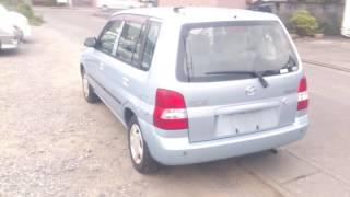 Видео-тест автомобиля Mazda Demio (DW3W-732191, голубая, 2002 г.)