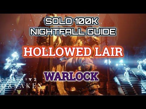 Destiny 2 Solo 100K Nightfall Guide: Hollowed Lair - Warlock (Jokers Wild DLC)