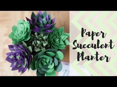 How-To Make a Paper Succulent Planter