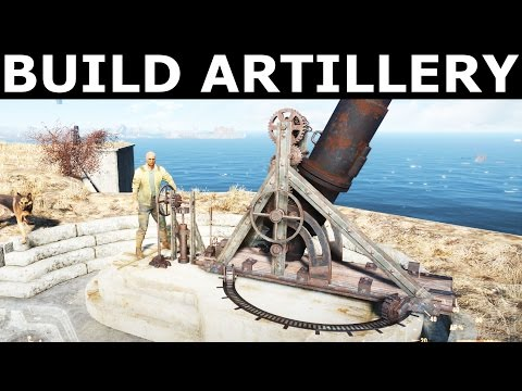 """Fallout 4 - Build And Assign Artillery At The Castle - """"Old Guns"""" Quest"""