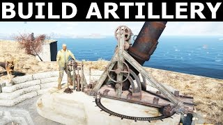 Fallout 4 - Build And Assign Artillery At The Castle - Old Guns Quest