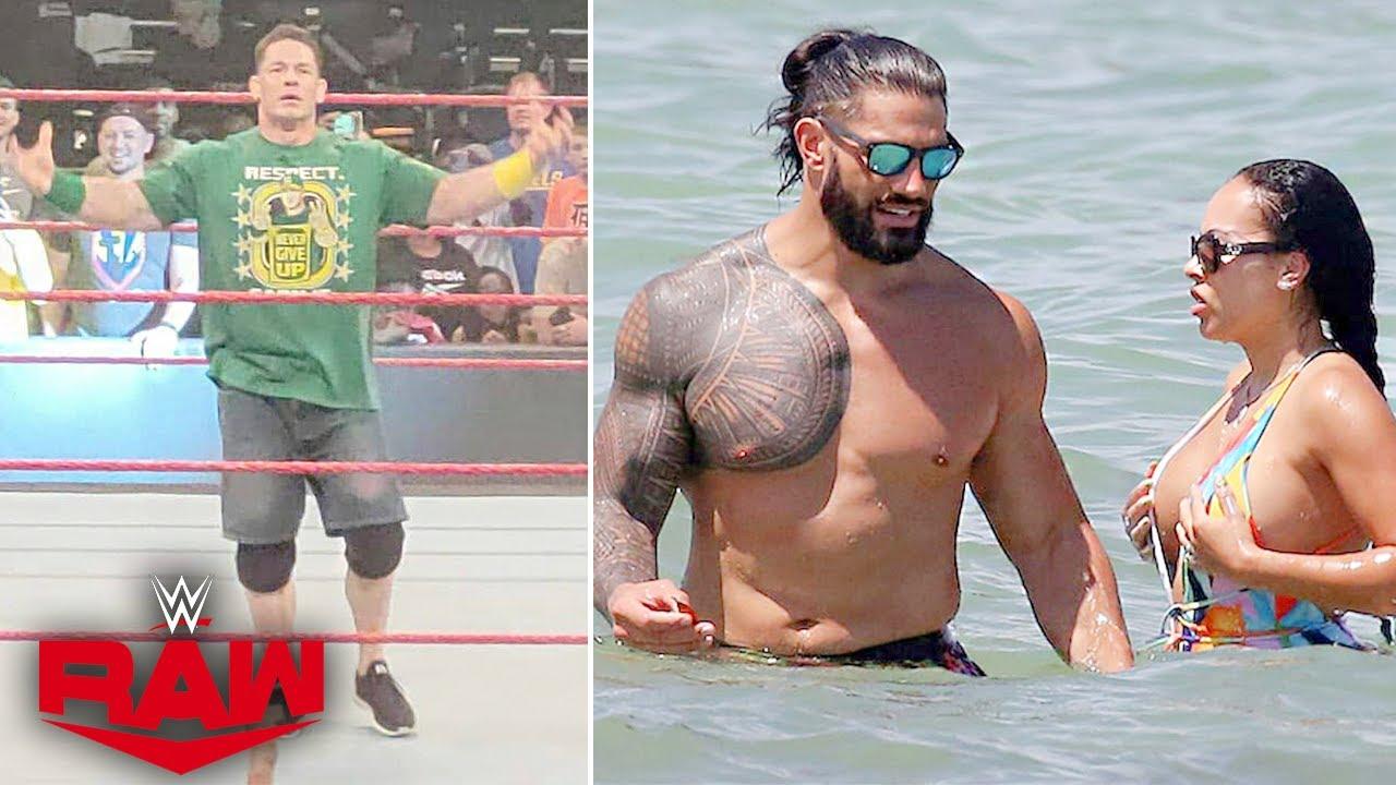 John Cena RAW Off-Air Match.. Roman Reigns & Wife Red HOT🔥, Jinder Mahal Lawyer, Braun Violates