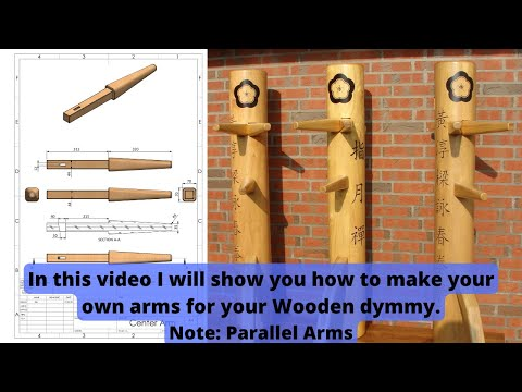 Construction of a wooden dummy (arms part 1).wmv