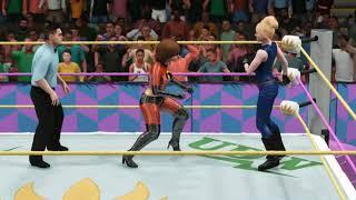 Tina Armstrong/Sarah Bryant vs. Elastigirl/Violet Parr