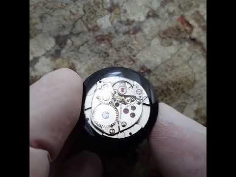 Plug Ebonywood + Clockwork movement   22mm