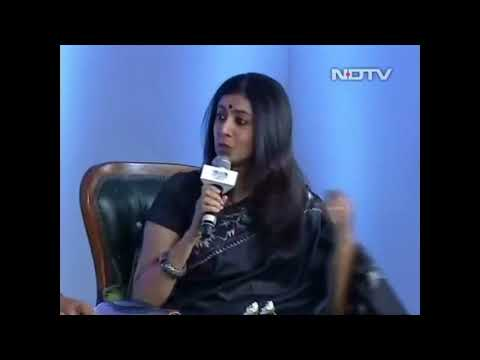 Author Arundhathi Subramaniam with Sadhguru  In conversation with Mystic