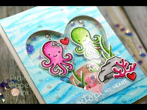 lawn-fawn-octopi-my-heart-|-clean-color-real-brush-markers-|-amyr-2017-valentine-card-series-#3