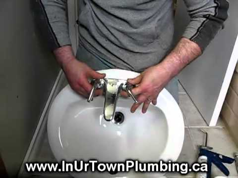 Vancouver Plumber Shows How To Install a Ceramic Sink