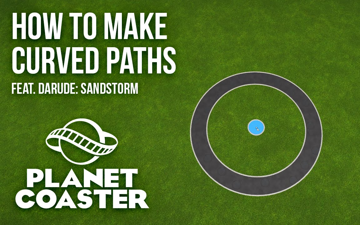 Planet Coaster How To Make Circular Paths Youtube