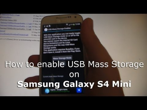 How To Enable USB Mass Storage On Samsung Galaxy S4 Mini