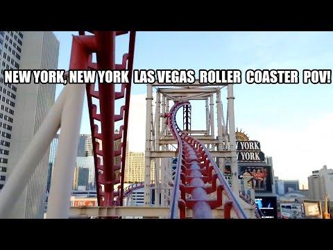 Manhattan Express Roller Coaster POV New York New York Las Vegas