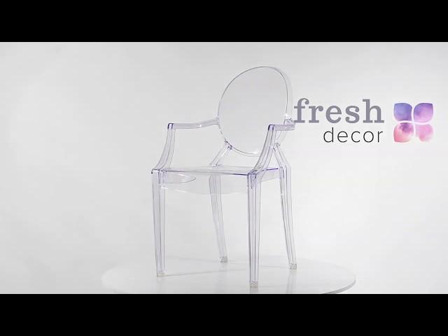 Стул Ghost Каспер прозрачный пластиковый поликарбоната удобный и качественный стул
