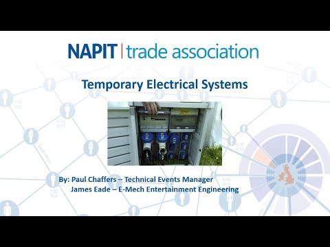 NAPIT Trade Association webinar - Temporary Electrical Systems