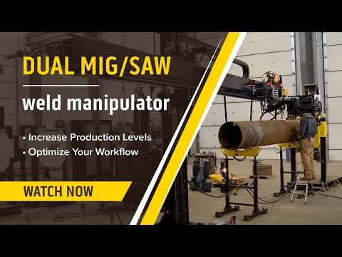 Automated MIG & Submerged Arc (SAW) Welding Manipulator Demonstration & Review
