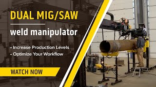 automated mig submerged arc saw welding manipulator demonstration review