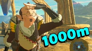What happens when 1000 Meters for Bird-Man Research is Achieved (Zelda: Breath of the Wild)