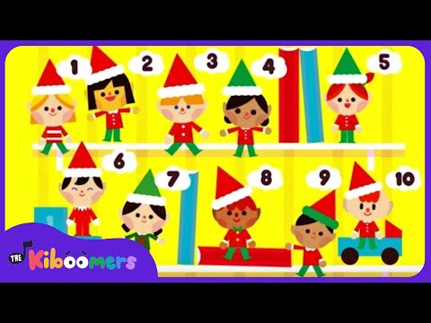 Elf On the Shelf Song  10 Little Elves  Christmas Song for Kids  The Kiboomers