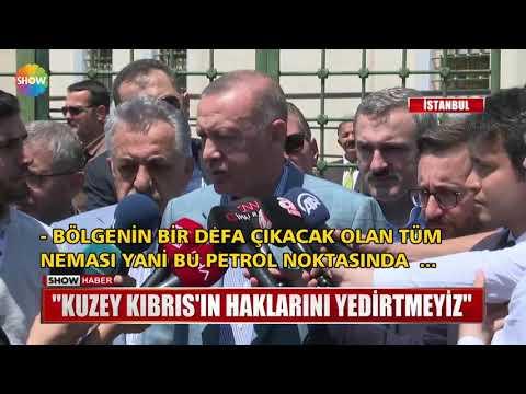 """Erdoğan: """"Kuzey Kıbrıs'ın haklarını yedirtmeyiz"""""""