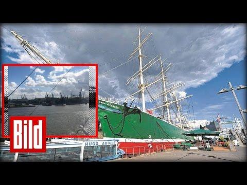 Hamburger Hafen - Klettern auf der Rickmer Rickmers
