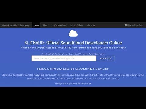 How To Download Soundcloud Songs Online- KlickAud.com