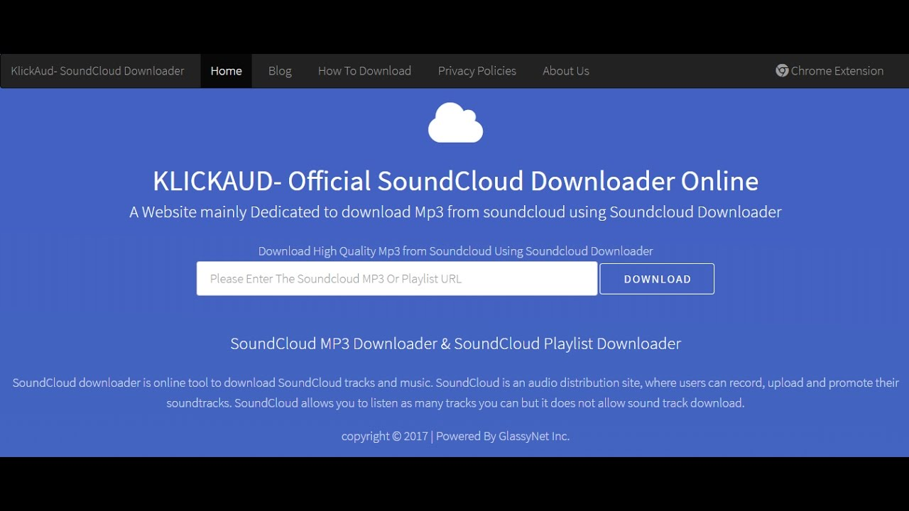 How to download Soundcloud Songs Online- KlickAud com