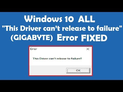 How to Fix The driver can\u0027t release to failure error - YouTube