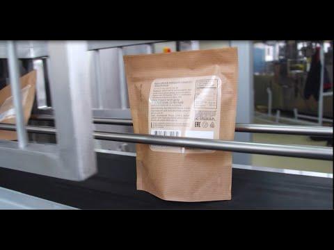 Автомат для фасовки орехов и сухофруктов в бумажный пакет с замком зиппер
