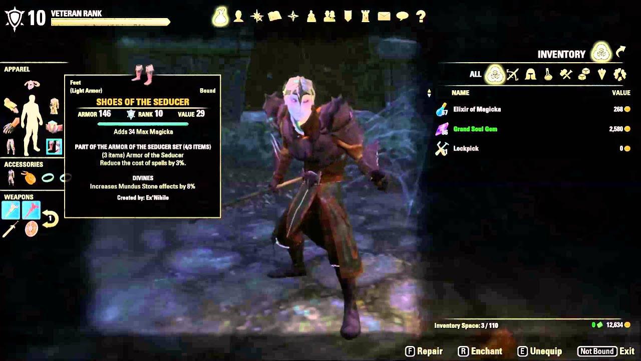 ESO VR10 Dragon Knight Vampire  Stats & Gear