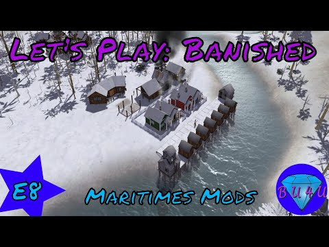 Hospital & more shellfish - Banished | Maritime mods | Let's Play | S1E8