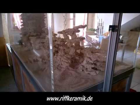 Riffsystem Riffkeramik, Raumteiler Becken nach Einbau ...