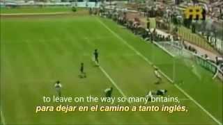 Maradona Goal of the Century- (English Subtitles) Victor Hugo- Argentina 2-1 England (Mexico 86)