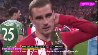Réaction de Grieezmann, Thauvin et Rami après Marseille vs Atlético Madrid