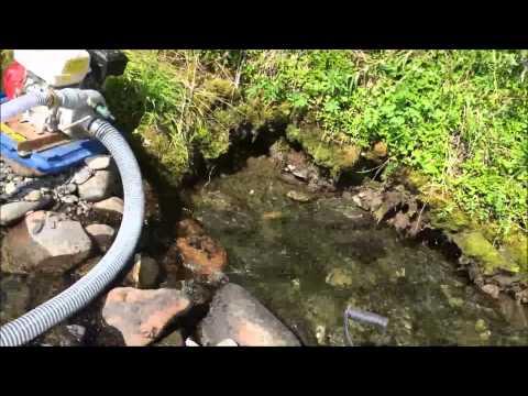 Peters Creek Alaska Gold Dredging - YouTube
