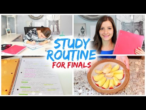Study Routine For Finals