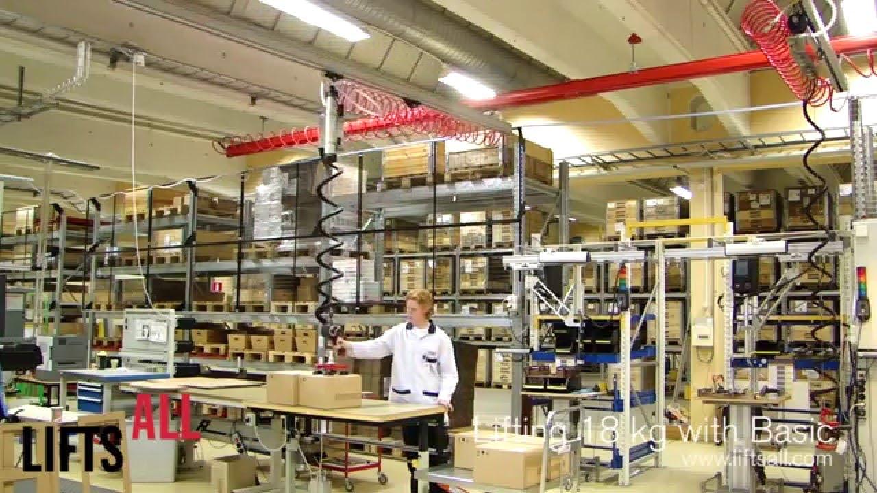 Manipulador y elevador para cajas en centros logísticos