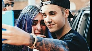 justin bieber crying with a fan this video will make you fall in love with jb very emotional video