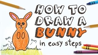 Educational: How to draw a bunny for kids in easy steps (Fine Motor Skills Exercise)