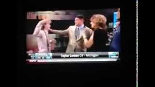 Funny and AWKWARD moment at NFL Draft
