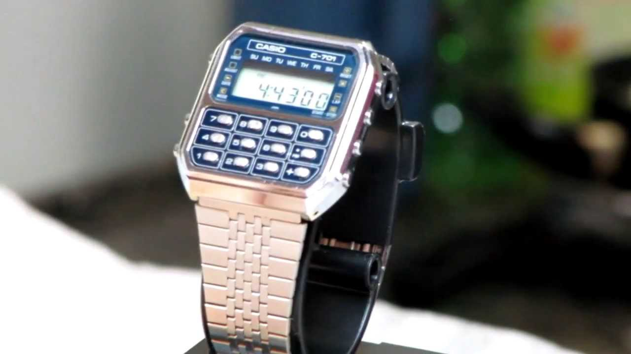 4ced428765a CASIO OLD C-701 (1980) - YouTube